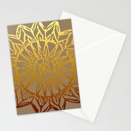 Aztec Sun Tribal Design 3 Stationery Cards