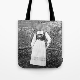 Miss Onion by the bushes. 1915. Tote Bag