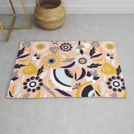 Bunch of Flowers and Leaves Rug