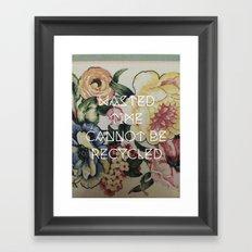 Segregate Framed Art Print