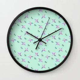 Vintage Cranes II Wall Clock