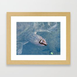 ...can I help you with something? Framed Art Print
