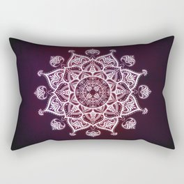 Purple Glowing Moon Blossom Rectangular Pillow