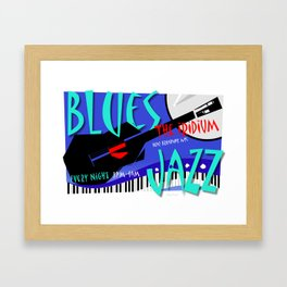 Modernist Blues / Jazz venue poster Framed Art Print