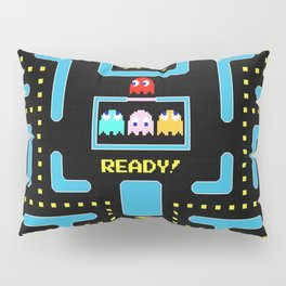 pac-man blue Pillow Sham
