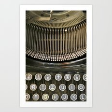 Old typewriter  Art Print