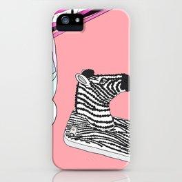 Zebra Phone in Tokyo Roppongi iPhone Case