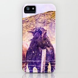 Southwest Horse Ranch Horses iPhone Case