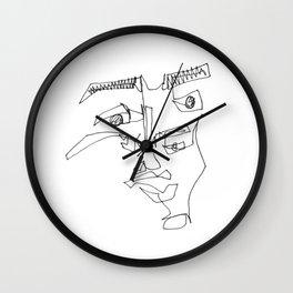 Blind Contour 02 Wall Clock