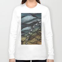 ferris wheel Long Sleeve T-shirts featuring Ferris Wheel by Juliana Caju