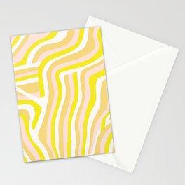 yellow zebra stripes Stationery Cards