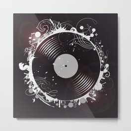 Retro record Metal Print