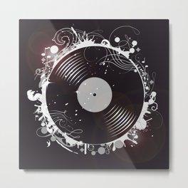 Retro record Metal Print