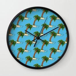 Coconut Summer Beach Wall Clock