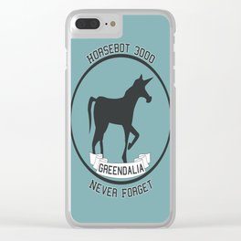 Horsebot 3000 Never Forget Clear iPhone Case