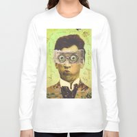 creepy Long Sleeve T-shirts featuring UNCLE CREEPY by Julia Lillard Art
