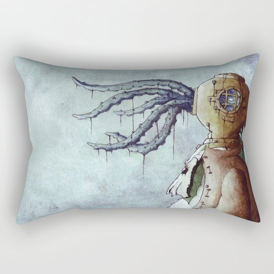 The Octopus Man Rectangular Pillow