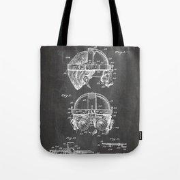 Welding Goggles Patent - Welder Art - Black Chalkboard Tote Bag
