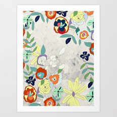 Saturday Florals Art Print