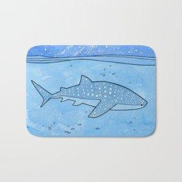Whale shark and stars Bath Mat