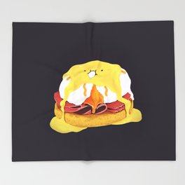 Egg Benedict Throw Blanket