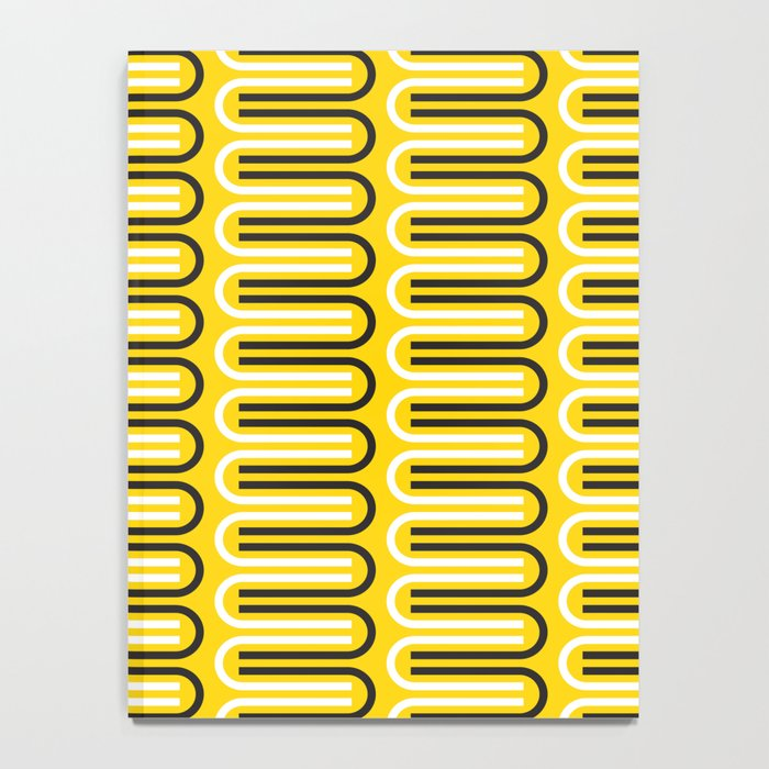 Geometric Pattern 235 (yellow curves) Notebook