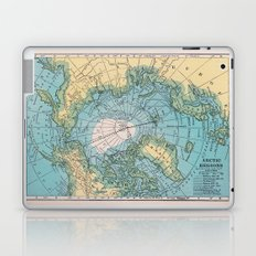 Vintage Arctic Map Laptop & iPad Skin