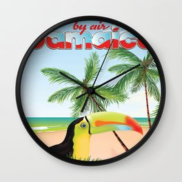 "by Air ""jamaica"" Wall Clock"