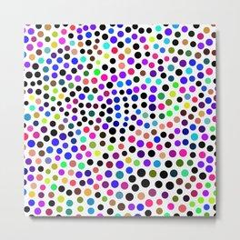 Fun Colorful Dots Pattern Metal Print