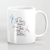 wonderland Mugs featuring Wonderland by Jozi