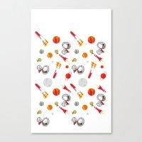 snoopy Canvas Prints featuring Snoopy Space by Yildiray Atas