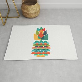 Colorful Whimsical Ananas Rug