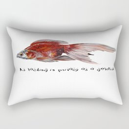 As Lacking In Privacy As A Goldfish Rectangular Pillow