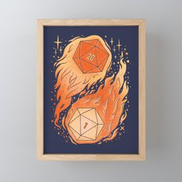 A Roll of the Die Framed Mini Art Print