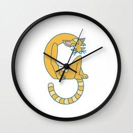 Lowercase g, no border Wall Clock