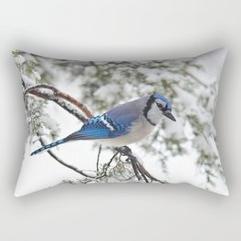 Beautiful Blue Jay Rectangular Pillow