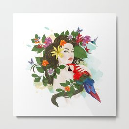 Goddess Amazon Metal Print