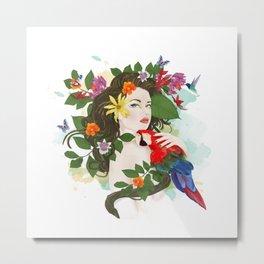 Goddess Amazon Metal Print