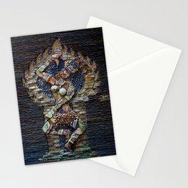 Mosaic Stone Figurine Stationery Cards