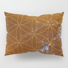 Orange Calcite // Flower of Life Pillow Sham