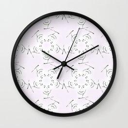 "series ""rostidade em mandala"" - lady Wall Clock"