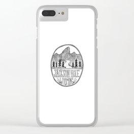 Jackson Hole Wyoming Clear iPhone Case