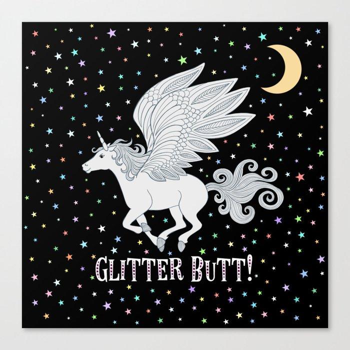 Glitter Butt! Leinwanddruck