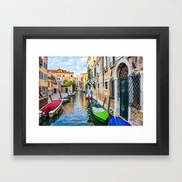 Watery Streets Venice, Italy Framed Art Print