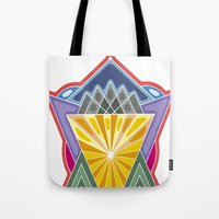 crown Tote Bags featuring Crown by Losal Jsk