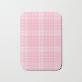 Pink Blush Plaid Pattern Bath Mat