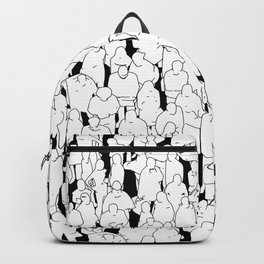 Public assembly B&W / Lineart people pattern Backpack