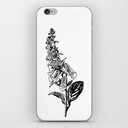 wild flower: digitalis purpurea iPhone Skin