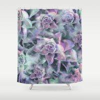 succulents Shower Curtains featuring Succulents by Klara Acel