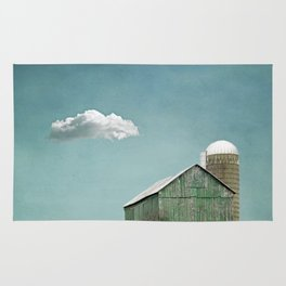 Green Barn and a Cloud Rug